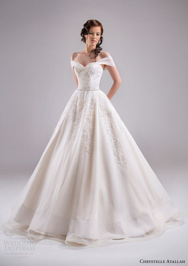 Those Off The Shoulder Sleeves Are A Beautiful Addition To Ball Gown Especially That Want Vintage Cinderella Feel