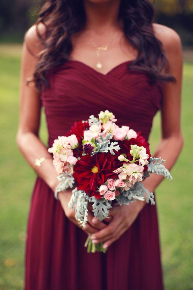 Rustic Red Bridesmaid Dresses