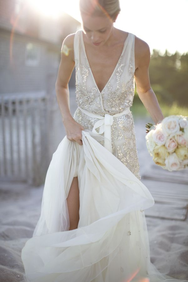 10 Sequins Wedding Gowns For Your Second Walk Down The Aisle