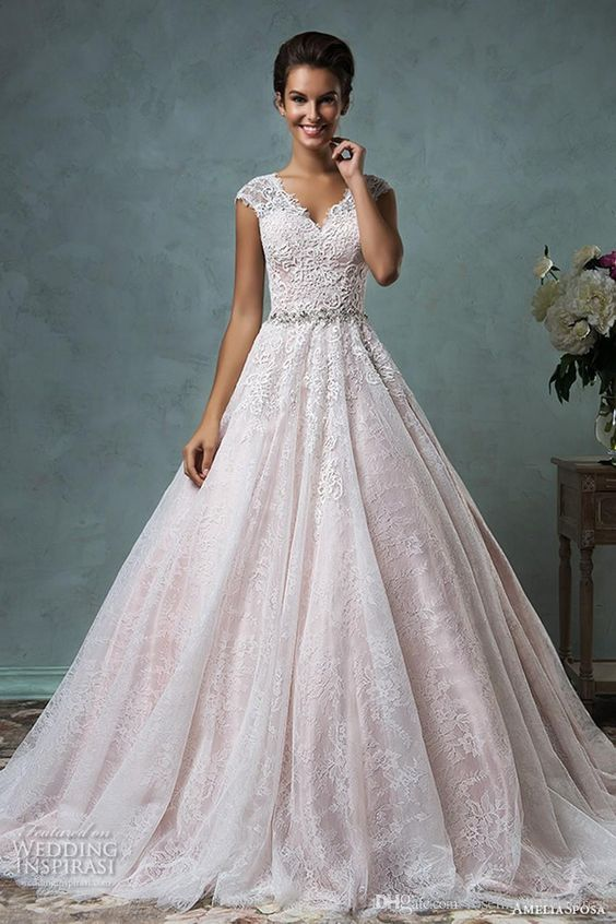 10 Lace Ball Gowns For the Sophisticated Bride   Wedding Attire ...
