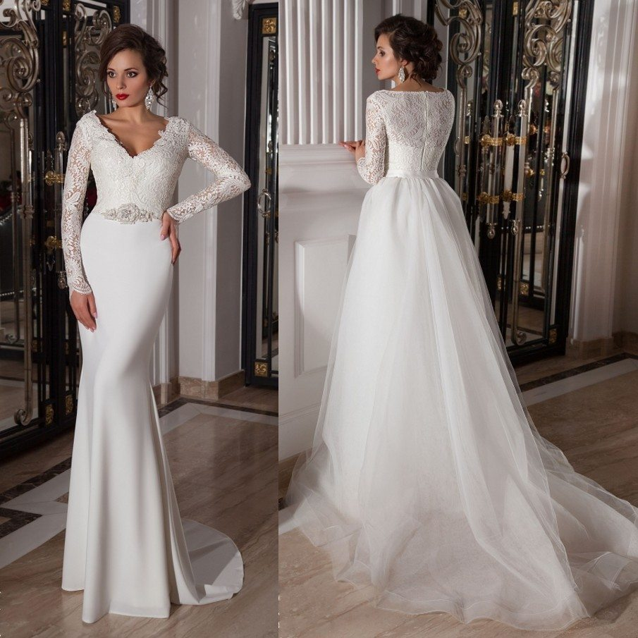 10 convertible two in one wedding gowns that will steal for Wedding dresses 2 in 1