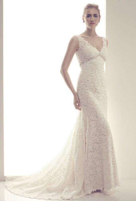 Sleek sheath wedding gowns for older brides i do take two for Long sleek wedding dresses