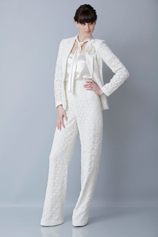 Chic, Sophisticated Suits Any Bride Can Rock Down The Aisle