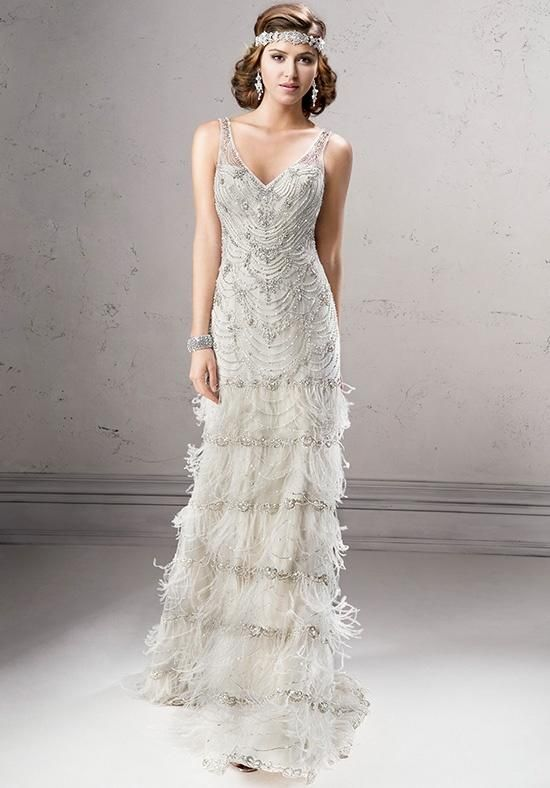 10 Gatsby Style Wedding Gowns To Theme Your Wedding Around | Wedding ...