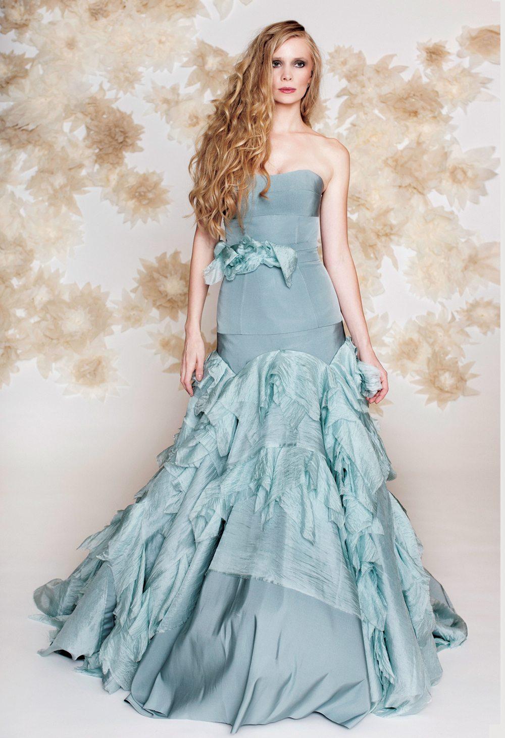 blue-wedding-dress-drop-waist-mermaid- | | IDoTakeTwo.com
