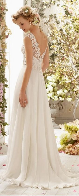 Wedding Gowns with Buttons Down the Back