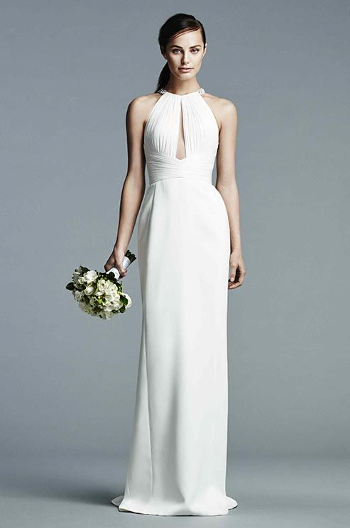 I do take two simple halter wedding gowns for your second for Simple 2nd wedding dresses