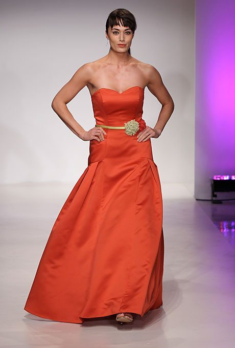 Orange Bridesmaids Dresses